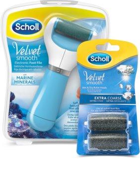 Scholl Velvet Smooth râpe pieds électrique + 2 têtes de rechange