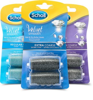 Scholl Velvet Smooth Regular Coarse tête de rechange conditionnement avantageux