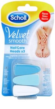 Scholl Velvet Smooth cabeça de substituição para lima de unhas elétrica 3 pçs