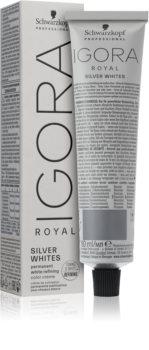 Schwarzkopf Professional IGORA Royal Absolutes SilverWhite tónujúca denná-permanentná farba na vlasy pre strieborné a biele vlasy