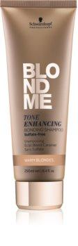 Schwarzkopf Professional Blondme Sulfaatvrije Shampoo voor Warme Blond Tinten