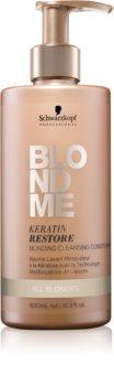 Schwarzkopf Professional Blondme acondicionador limpiador  para cabello rubio