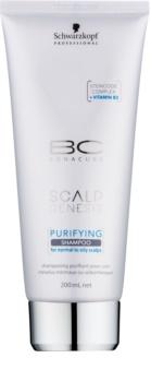 Schwarzkopf Professional BC Bonacure Scalp Genesis καθαριστικό σαμπουάν  για κανονικά έως λιπαρά μαλλιά
