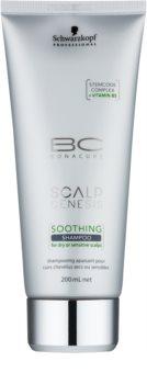 Schwarzkopf Professional BC Bonacure Scalp Genesis Rauhoittava Hiustenpesuaine Kuiville Hiuksille ja Herkälle Päänahalle