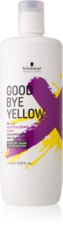 Schwarzkopf Professional Good Bye Yellow шампоан, неутрализиращ жълтите нюанси за боядисана коса и коса с кичури