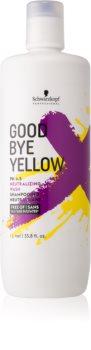 Schwarzkopf Professional Goodbye  Yellow шампоан, неутрализиращ жълтите нюанси за боядисана коса и коса с кичури