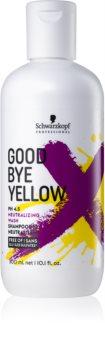 Schwarzkopf Professional Goodbye  Yellow Shampoo zum Neutralisieren von Gelbstich für gefärbtes Haar oder Strähnen