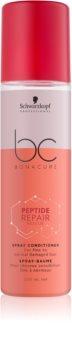 Schwarzkopf Professional BC Bonacure Peptide Repair Rescue après-shampoing en spray pour cheveux abîmés
