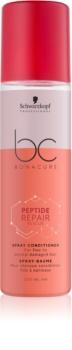 Schwarzkopf Professional BC Bonacure Peptide Repair Rescue condicionador em spray  para cabelo danificado