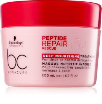 Schwarzkopf Professional BC Bonacure Peptide Repair Rescue maska pre suché a poškodené vlasy