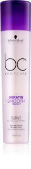 Schwarzkopf Professional BC Bonacure Keratin Smooth Perfect Micelárny šampón pre nepoddajné vlasy