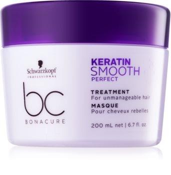 Schwarzkopf Professional BC Bonacure Keratin Smooth Perfect masque pour cheveux indisciplinés et frisottis