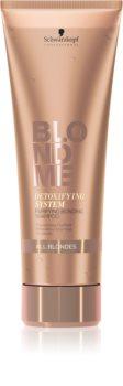 Schwarzkopf Professional Blondme reinigendes Detox-Shampoo für alle blonde Haartypen