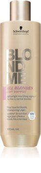 Schwarzkopf Professional Blondme All Blondes Light подхранващ шампоан  за фина към нормална коса