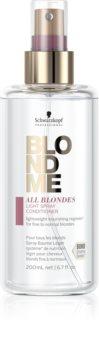 Schwarzkopf Professional Blondme All Blondes Light лек балсам в спрей