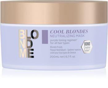 Schwarzkopf Professional Blondme Cool Blondes tápláló maszk semlegesíti a sárgás tónusokat