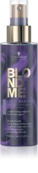 Schwarzkopf Professional Blondme Cool Blondes балсам в спрей без отмиване неутрализиращ жълтеникавите оттенъци