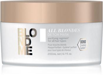 Schwarzkopf Professional Blondme All Blondes Detox Entgiftende Reinigungsmaske für blondes und meliertes Haar