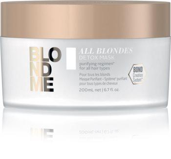 Schwarzkopf Professional Blondme All Blondes Detox детоксикираща почистваща маска за блонд коса и коса с кичури