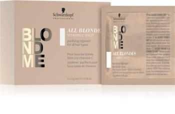 Schwarzkopf Professional Blondme All Blondes Vitamin C Shot vitaminreiches Konzentrat für blondes und meliertes Haar