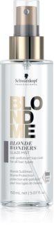 Schwarzkopf Professional Blondme Blonde Wonders регенериращ блясък в спрей за блонд коса и коса с кичури