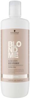 Schwarzkopf Professional Blondme възстановяващ шампоан с кератин  за всички видове руса коса
