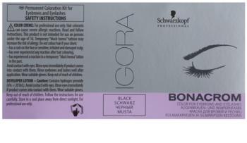 Schwarzkopf Professional Igora Bonacrom tinte para cejas y pestañas con activador