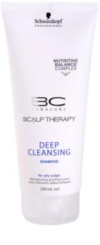 Schwarzkopf Professional BC Bonacure Scalp Therapy hloubkově čisticí šampon pro mastnou pokožku hlavy