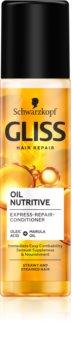 Schwarzkopf Gliss Oil Nutritive regenerierender Balsam für unnachgiebige und strapaziertes Haar