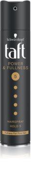 Schwarzkopf Taft Power & Fullness Erittäin Vahva Kiinnittävä Hiussuihke