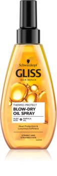 Schwarzkopf Gliss Thermo-Protect Blow Dry защитно масло за топлинно третиране на косата