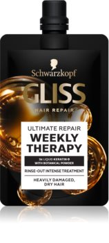 Schwarzkopf Gliss Ultimate Repair Weekly Therapy tratament saptamanal intensiv pentru păr uscat și deteriorat