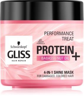 Schwarzkopf Gliss Protein+ aufhellende Hautmaske für gefärbtes und geschädigtes Haar