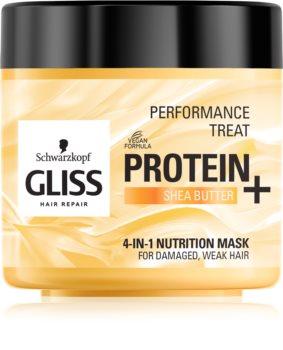 Schwarzkopf Gliss Protein+ vyživující maska s bambuckým máslem
