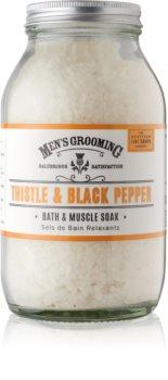 Scottish Fine Soaps Men's Grooming Thistle & Black Pepper zklidňující sůl do koupele pro muže