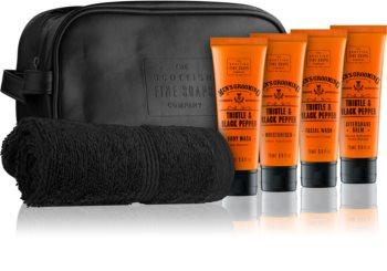 Scottish Fine Soaps Men's Grooming Thistle & Black Pepper Cosmetic Set III. for Men