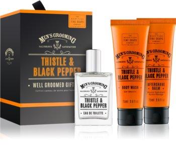 Scottish Fine Soaps Men's Grooming Thistle & Black Pepper dárková sada IV. (pro muže) pro muže