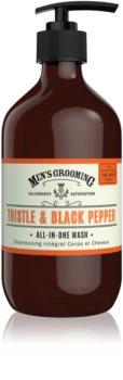 Scottish Fine Soaps Men's Grooming Thistle & Black Pepper gel za umivanje za telo in lase