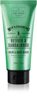 Scottish Fine Soaps Men's Grooming Vetiver & Sandalwood миещ гел за тяло и коса за мъже