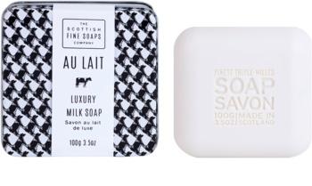 Scottish Fine Soaps Au Lait sapone di lusso in contenitore di metallo