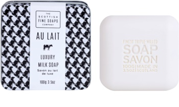 Scottish Fine Soaps Au Lait πολυτελές σαπούνι σε μεταλλική κανάτα