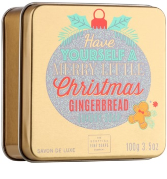 Scottish Fine Soaps Merry Little Christmas sabão luxuoso em barra