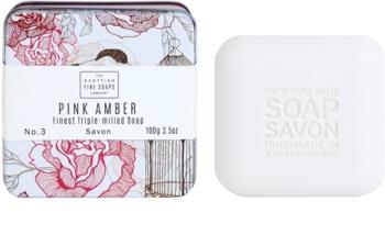 Scottish Fine Soaps Pink Amber Sabão luxuoso em frasco de estanho