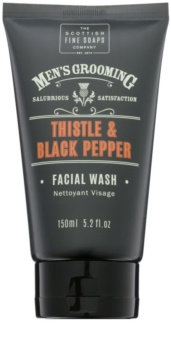 Scottish Fine Soaps Men's Grooming Thistle & Black Pepper gel detergente per il viso