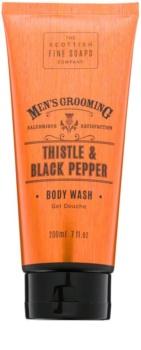 Scottish Fine Soaps Men's Grooming Thistle & Black Pepper gel doccia