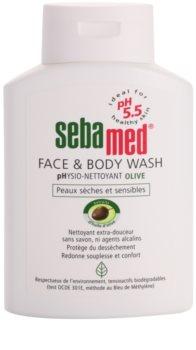 Sebamed Wash emulsione detergente delicata per corpo e viso con olio d'oliva