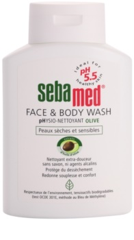 Sebamed Wash jemná mycí emulze na tělo a obličej s olivovým olejem