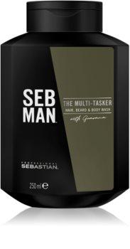 Sebastian Professional SEB MAN The Multi-tasker Shampoo for Hair, Beard and Body