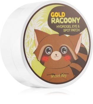 Secret Key Racoony Gold maska hydrożel wokół oczu ze złotem