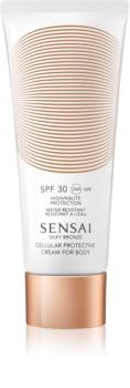 Sensai Silky Bronze creme corporal protetor solar anti envelhecimento SPF 30
